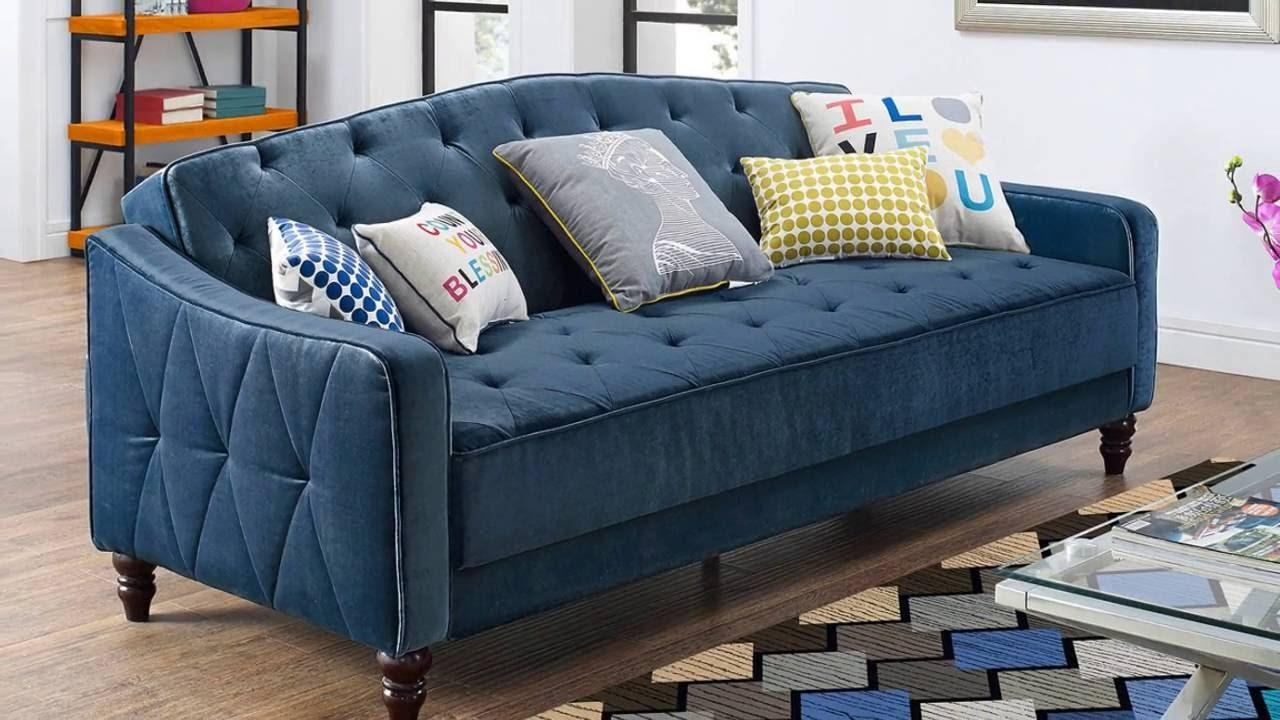 Sofas Center : Stunning Tufted Sleeper Sofa Photo Design Leather Within Tufted Sleeper Sofas (View 11 of 20)