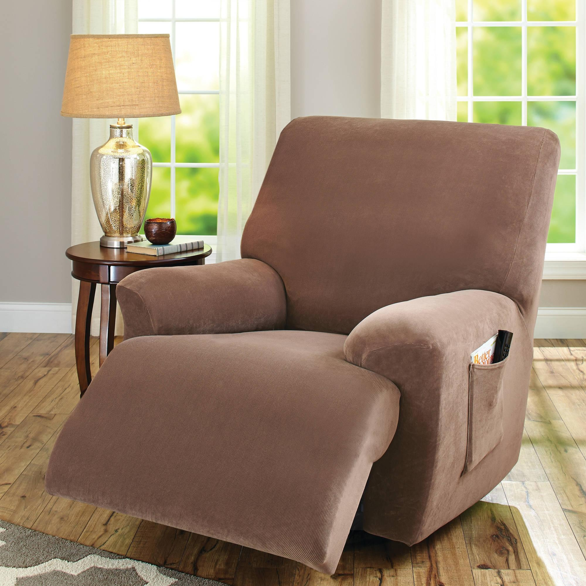 Sofas Center : Sure Fit Dual Reclining Sofa Couch Slipcover Throughout Slipcover For Recliner Sofas (Image 20 of 20)