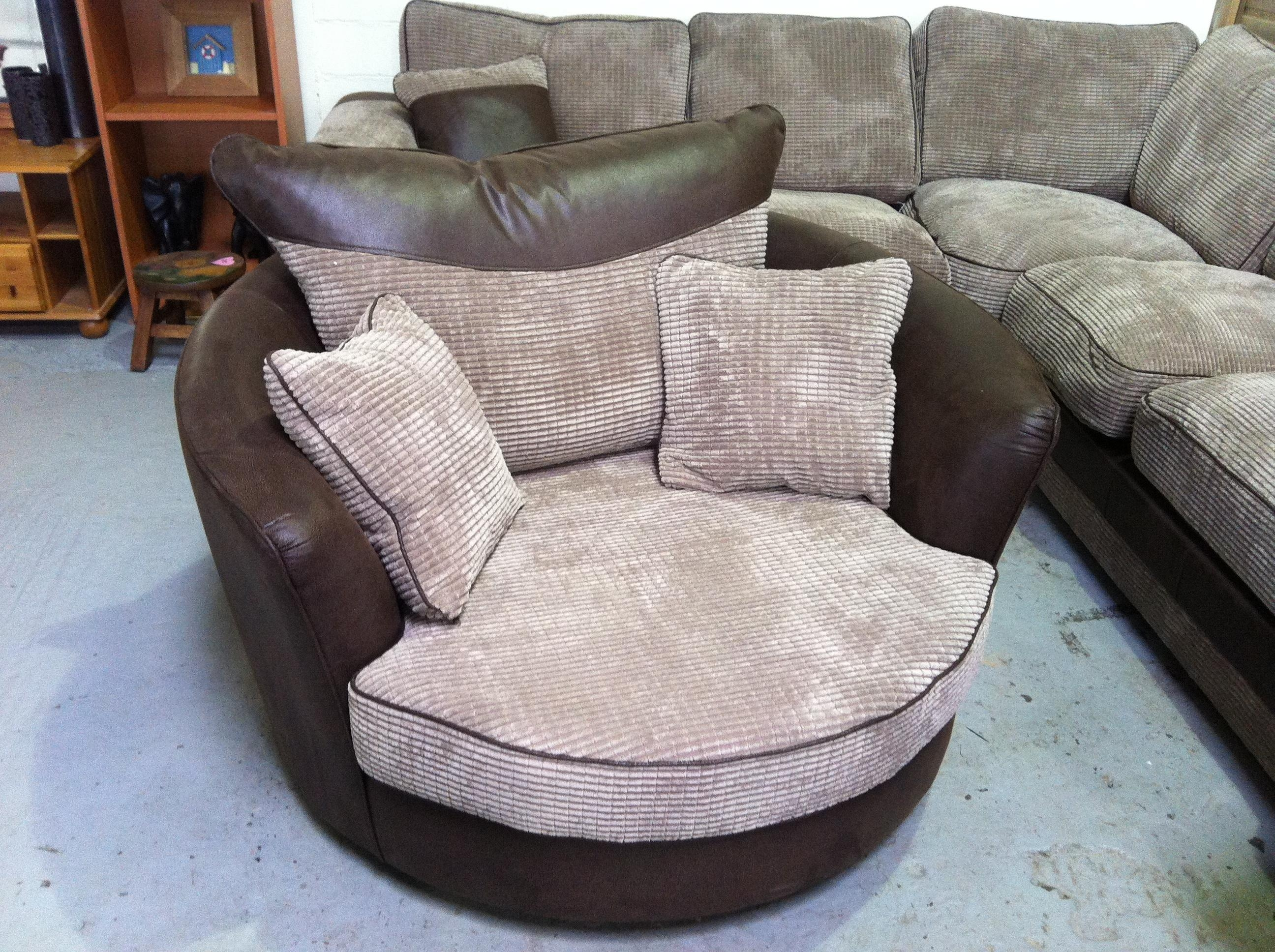 Sofas Center : Swivel Sofa Chair And Setround Chairsofa Set Round Pertaining To Sofa With Swivel Chair (View 8 of 20)