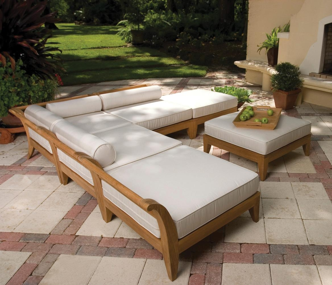 Sofas Center : Teak Outdoor Sofa Amazing Photos Design Macon Piece Pertaining To Outdoor Sofas And Chairs (View 15 of 20)