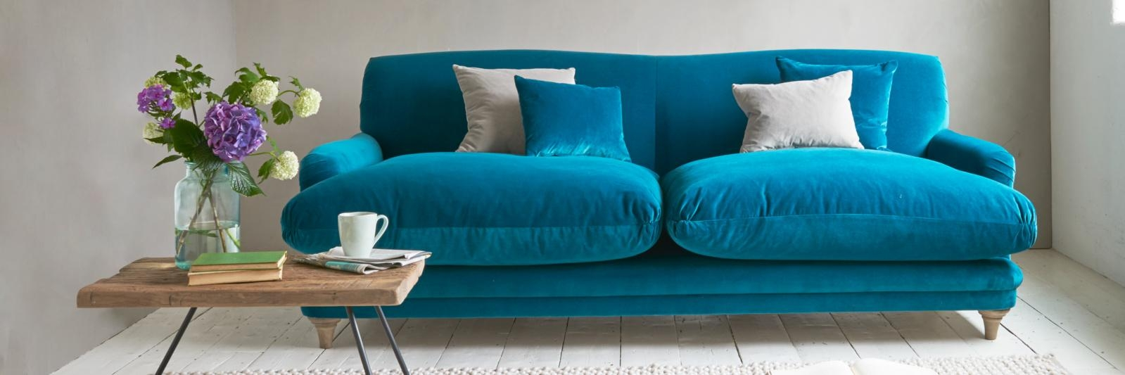 Sofas Center : Teal Blue Sofa Navy Couch Designs Sofas Pillowsteal Intended For Blue Sofas (View 4 of 20)