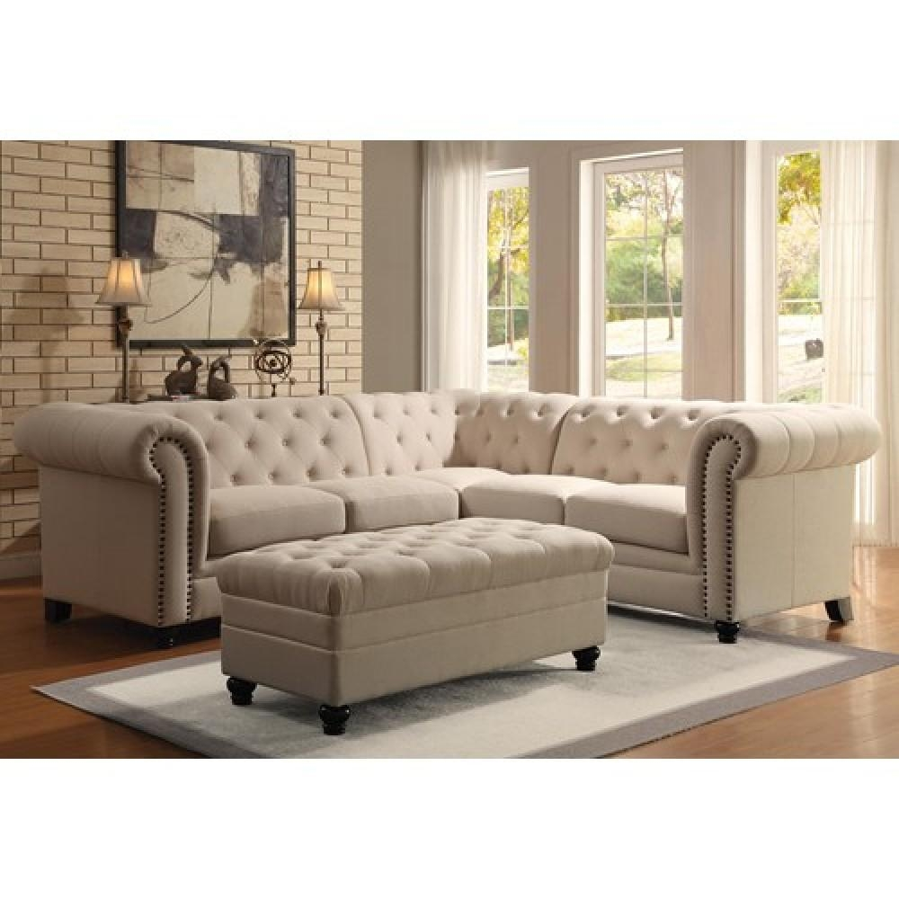 Sofas Center : Tufted Sectional Sofa Inspirational L Shaped White Throughout Tufted Sectional Sofa With Chaise (Image 18 of 20)