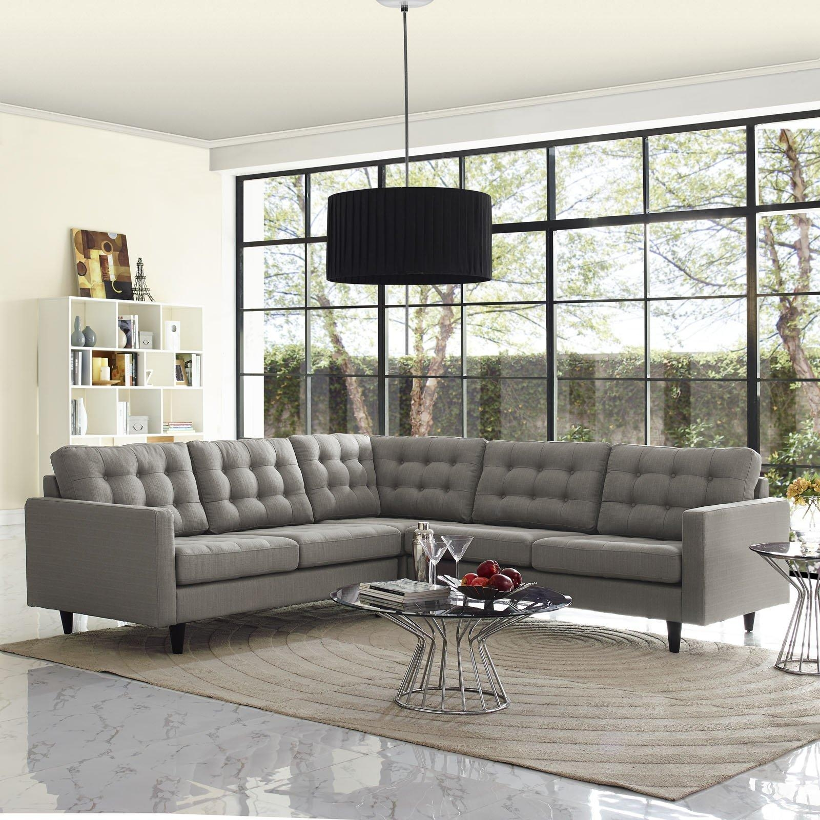 Sofas Center : Tufted Sectional Sofa With Chaise Leather Sofas Set With Regard To Tufted Sectional Sofa Chaise (Image 18 of 20)