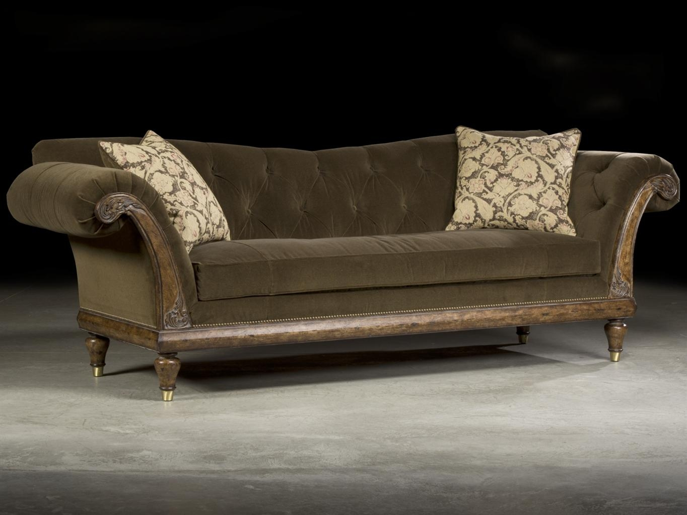 Sofas Center : Velvet Tufted Sofa Orange Ava Sleeper Specscream Intended For Brown Tufted Sofas (Image 17 of 20)