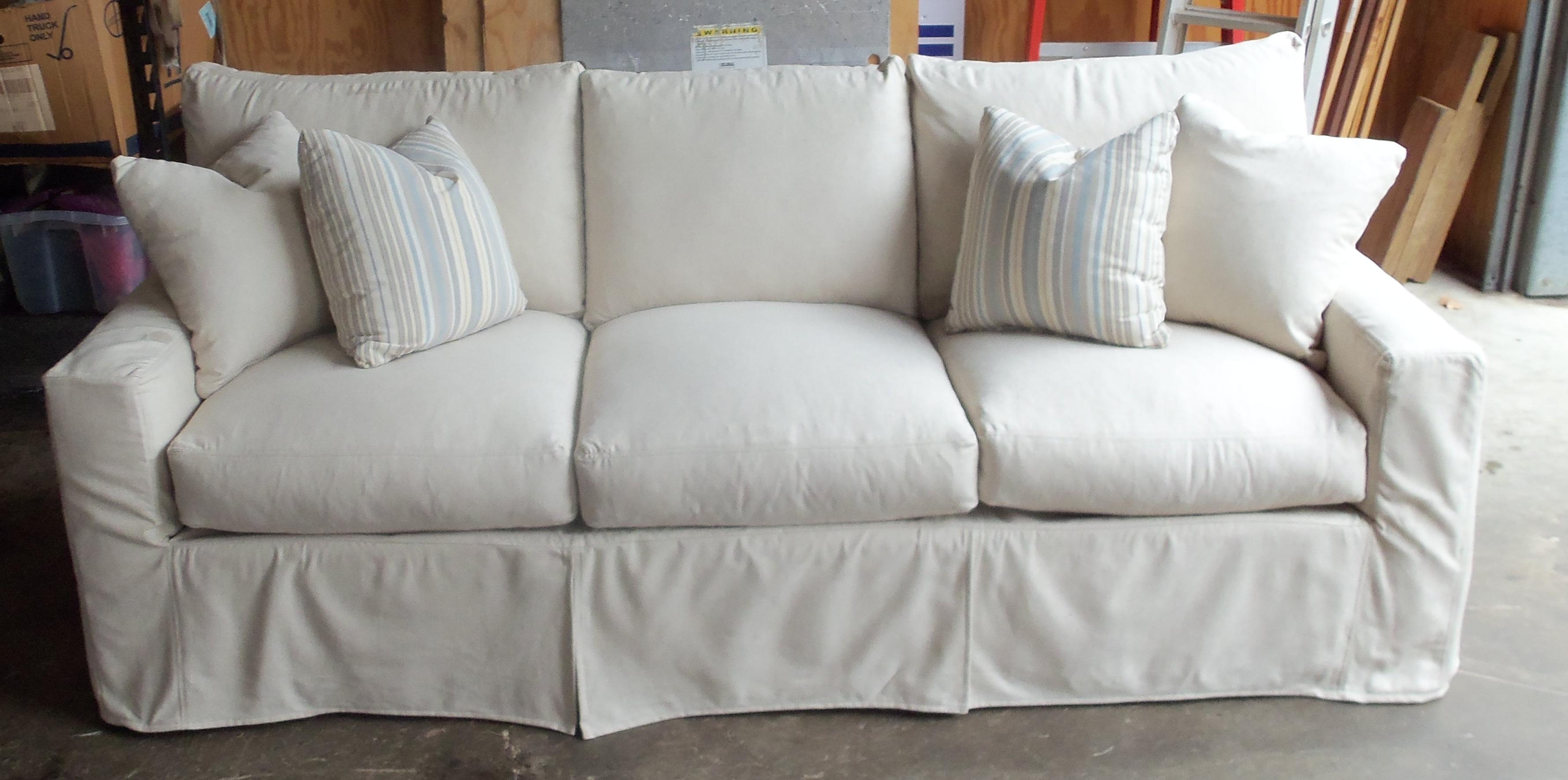 Sofas Center : White Slipcovers For Sofas With Cushions Cotton And Throughout Canvas Slipcover Sofas (Image 20 of 20)