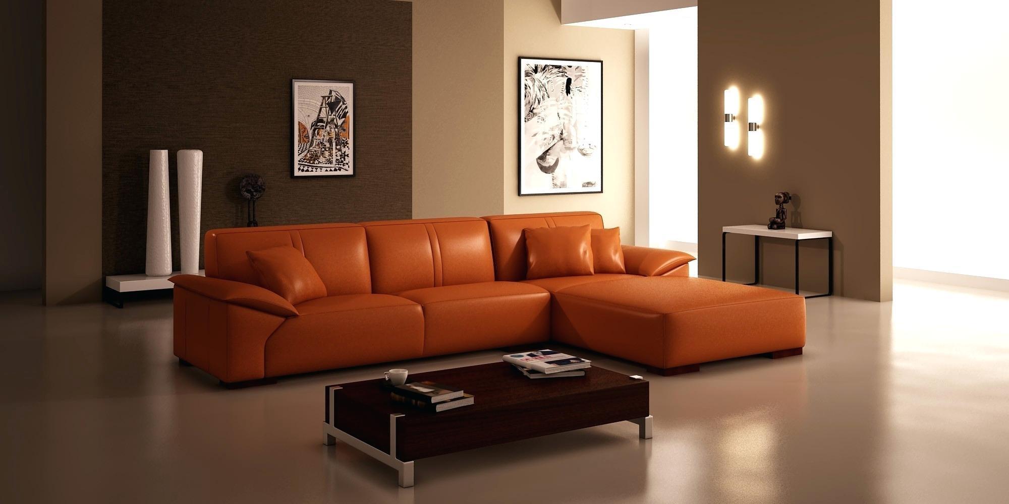 Sofas Center : Zed Orange Leather Sofa Burnt Sleeper Contemporary With Regard To Burnt Orange Leather Sofas (Image 20 of 20)