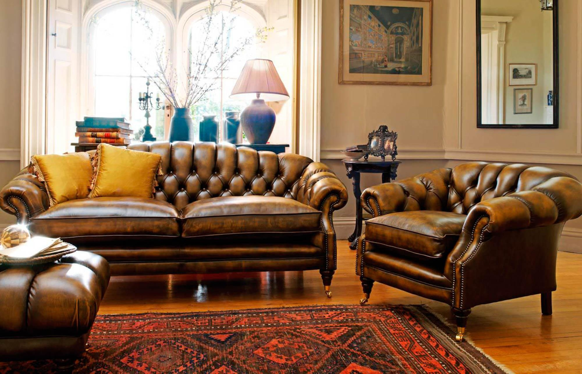 Sofas, Chesterfield & Club Chair Primer — Gentleman's Gazette Regarding Colorful Sofas And Chairs (View 6 of 20)