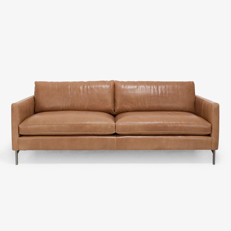 20 Choices Of White Leather Sofas: 20 Ideas Of Caramel Leather Sofas