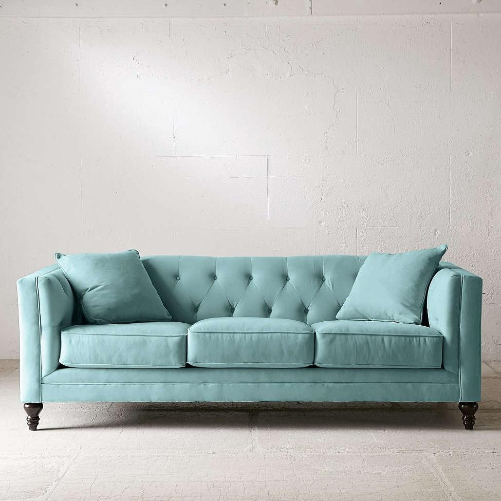 Sofas | Everything Turquoise Pertaining To Blue Microfiber Sofas (Image 14 of 20)