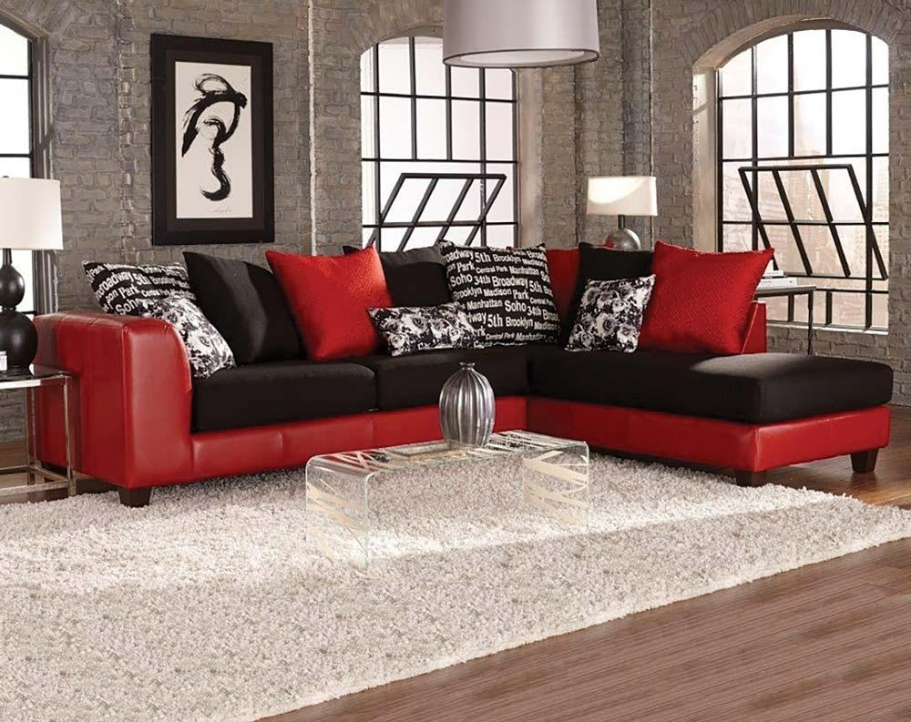 Good Featured Image Of Red Black Sectional Sofa