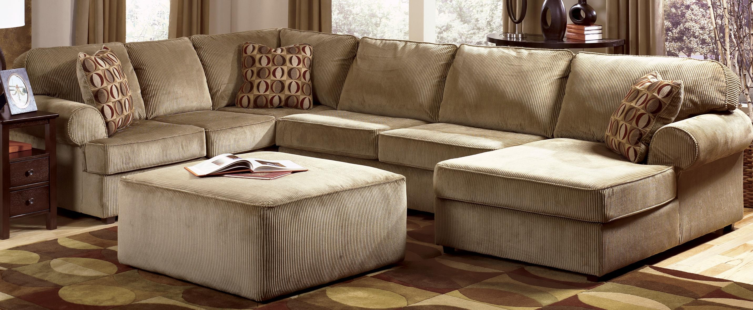 Sofas: Oversized Sofas That Are Ready For Hours Of Lounging Time With Regard To Sofa With Chaise And Ottoman (Image 19 of 20)
