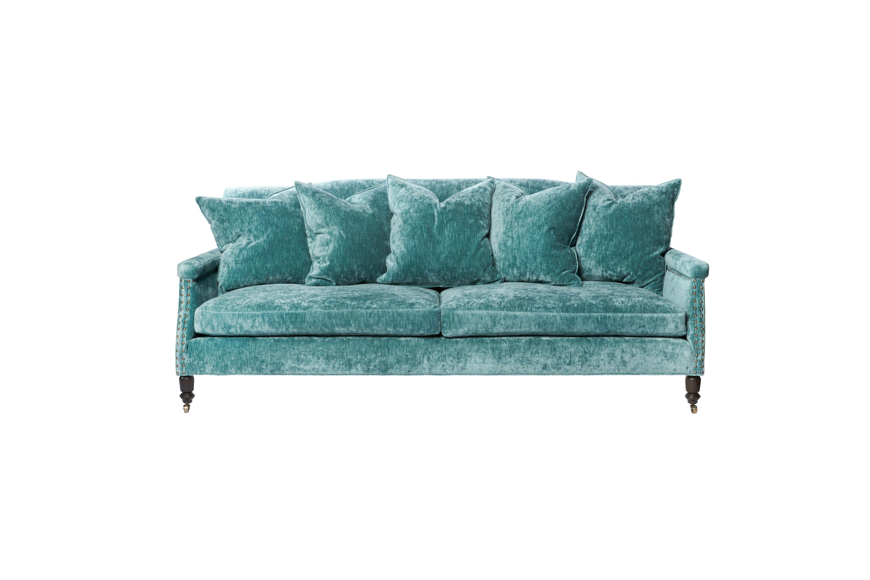 Sofas Pertaining To Teal Sofa Slipcovers (Image 19 of 20)