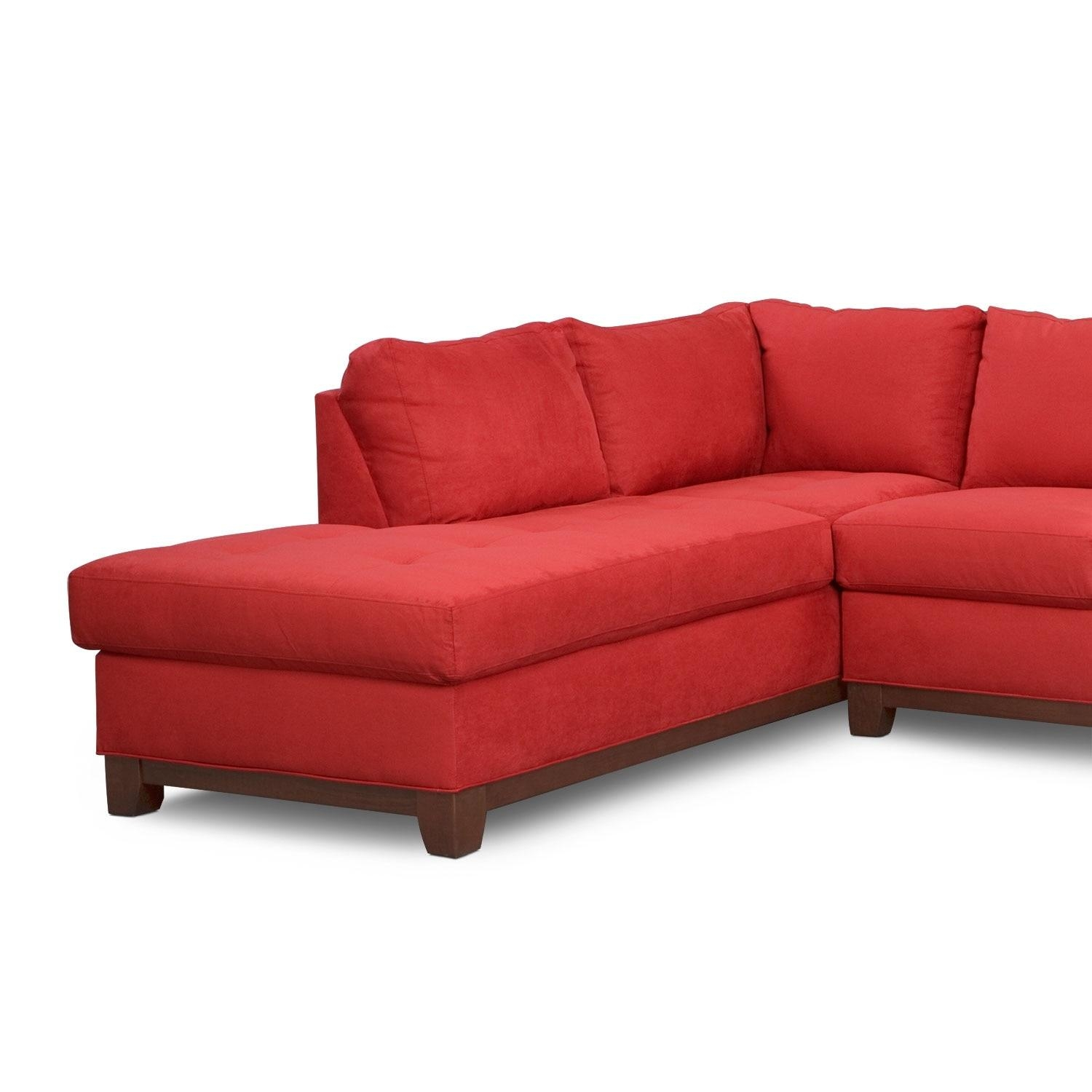 Soho 2 Piece Sectional With Left Facing Chaise – Red | Value City Within Sectional With 2 Chaises (Image 17 of 20)