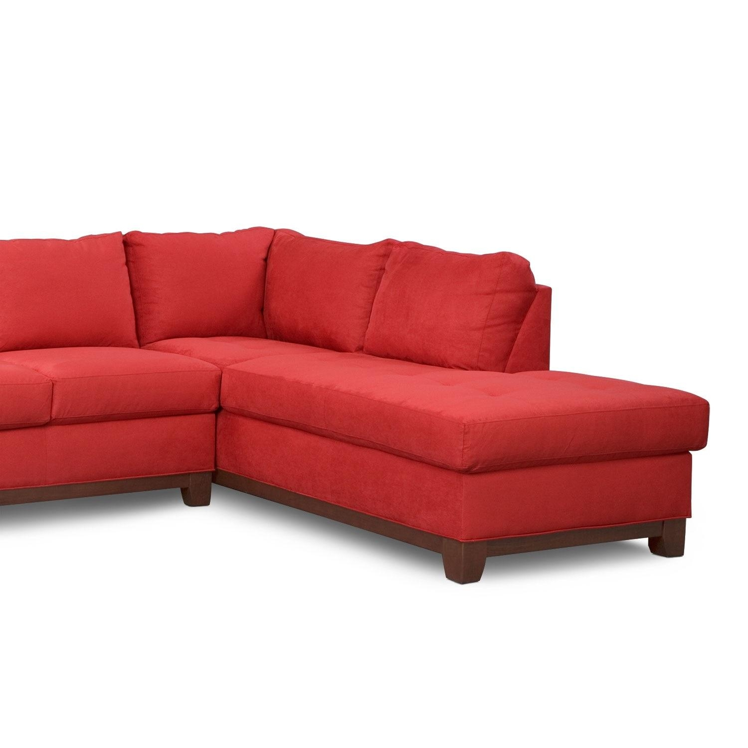 Soho 2 Piece Sectional With Right Facing Chaise – Red | American For Sectional With 2 Chaises (Image 19 of 20)
