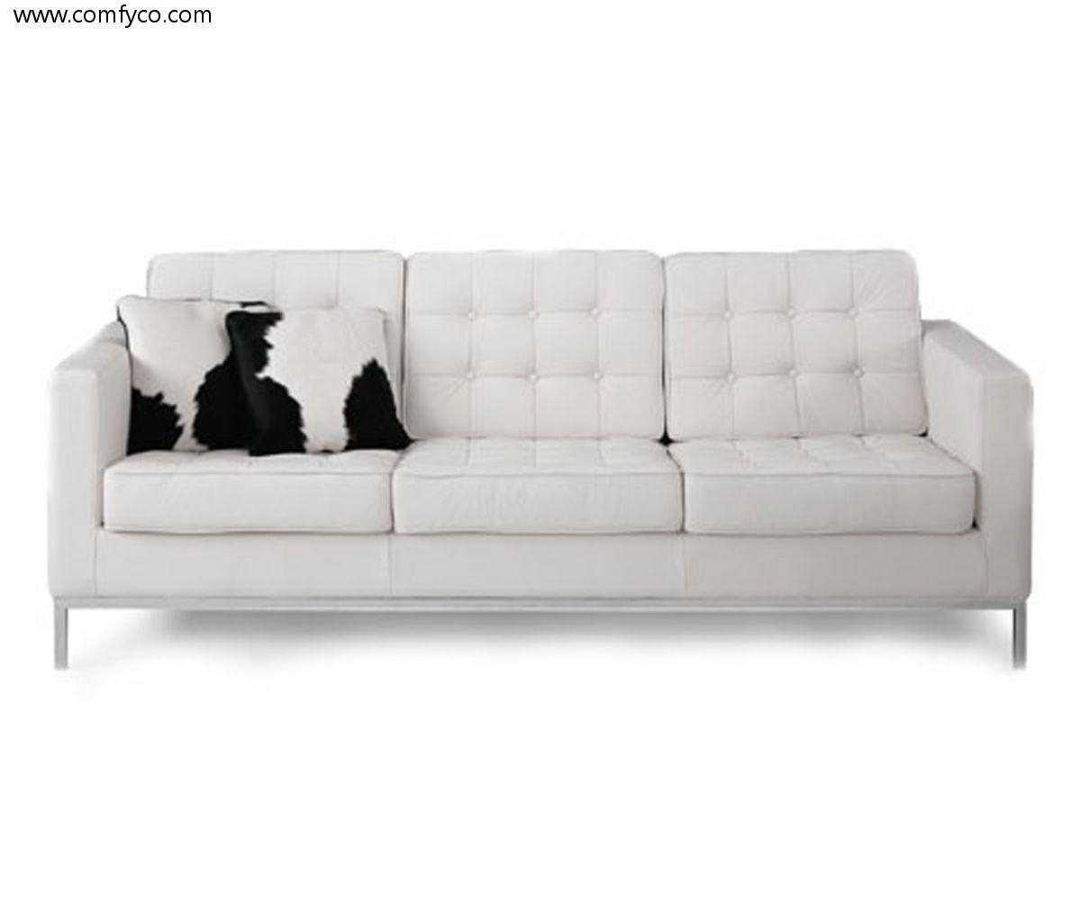 Sold White Leather Sofa – S3Net – Sectional Sofas Sale : S3Net Throughout White Leather Sofas (View 5 of 20)