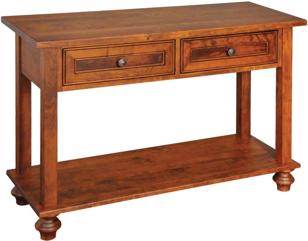Solid Wood Amish Furniture  Oceanside Sofa  Console Table Throughout Sofa Table Chairs (Image 18 of 20)