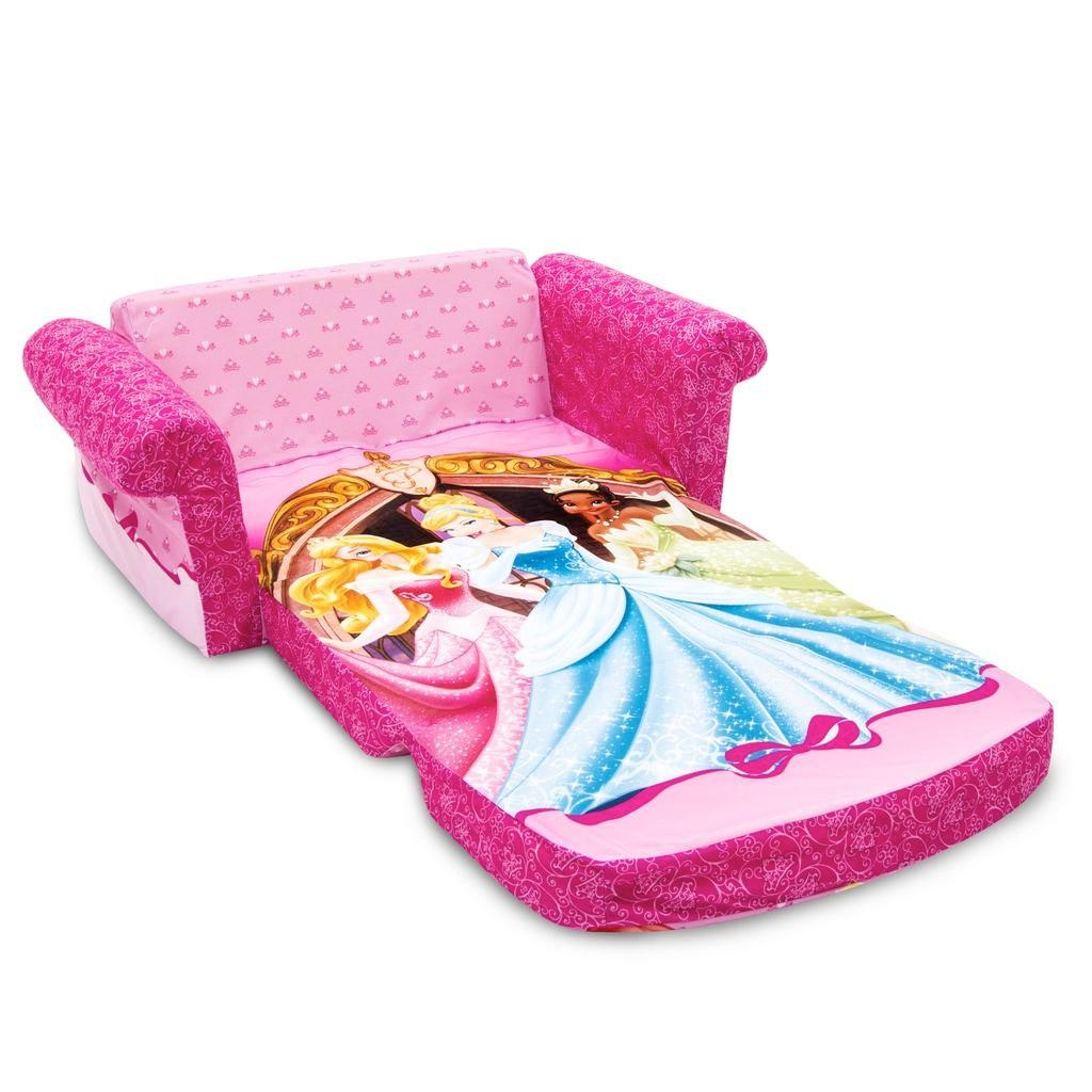 Spin Master – Marshmallow Furniture Flip Open Sofa Disney Princess Pertaining To Disney Princess Couches (View 8 of 20)