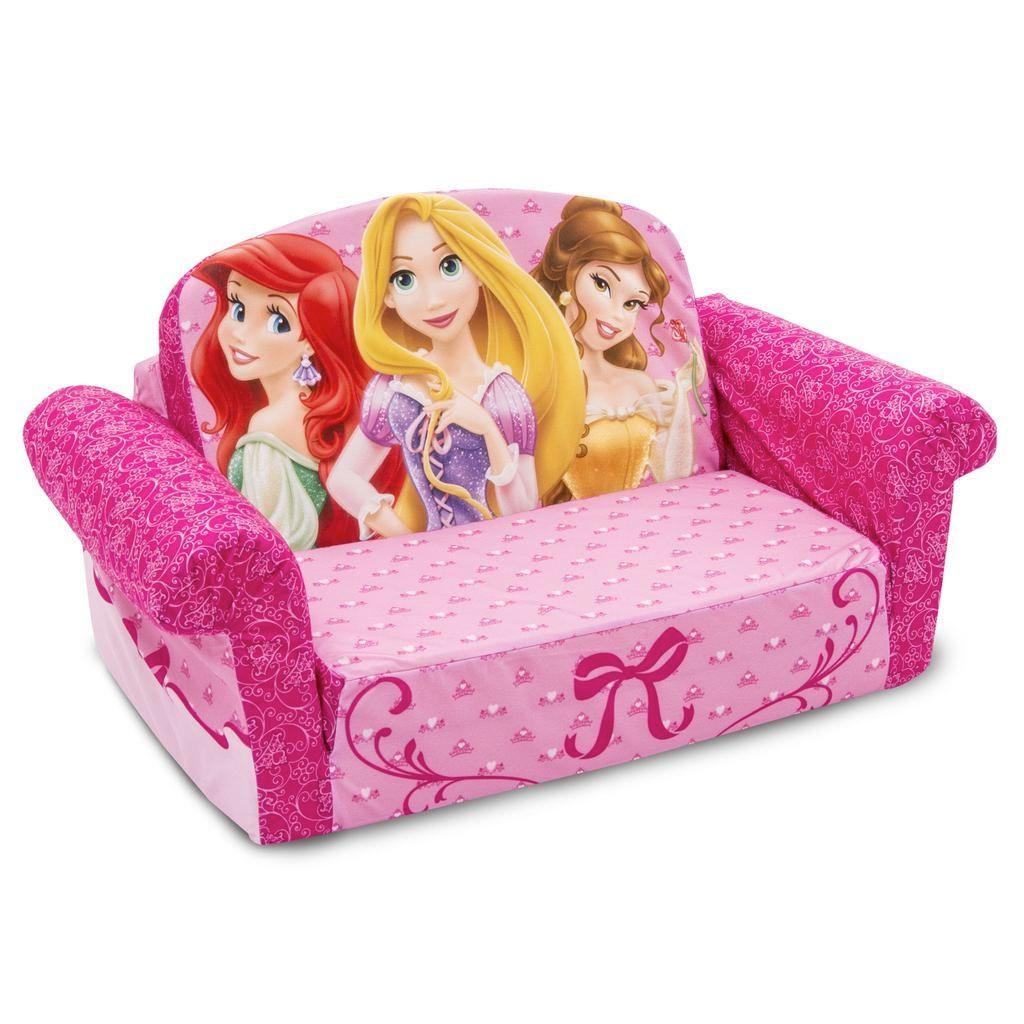 Spin Master – Marshmallow Furniture Flip Open Sofa Disney Princess Pertaining To Disney Princess Couches (View 2 of 20)