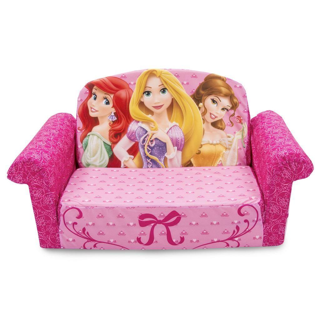 Spin Master – Marshmallow Furniture Flip Open Sofa Disney Princess Regarding Princess Flip Open Sofas (View 4 of 20)