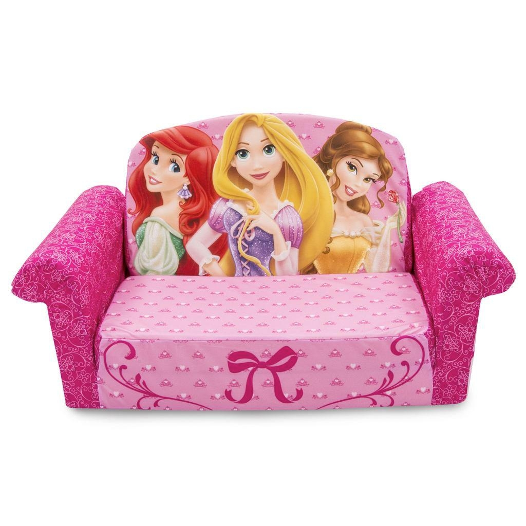 Spin Master – Marshmallow Furniture Flip Open Sofa Disney Princess Within Disney Princess Couches (View 5 of 20)