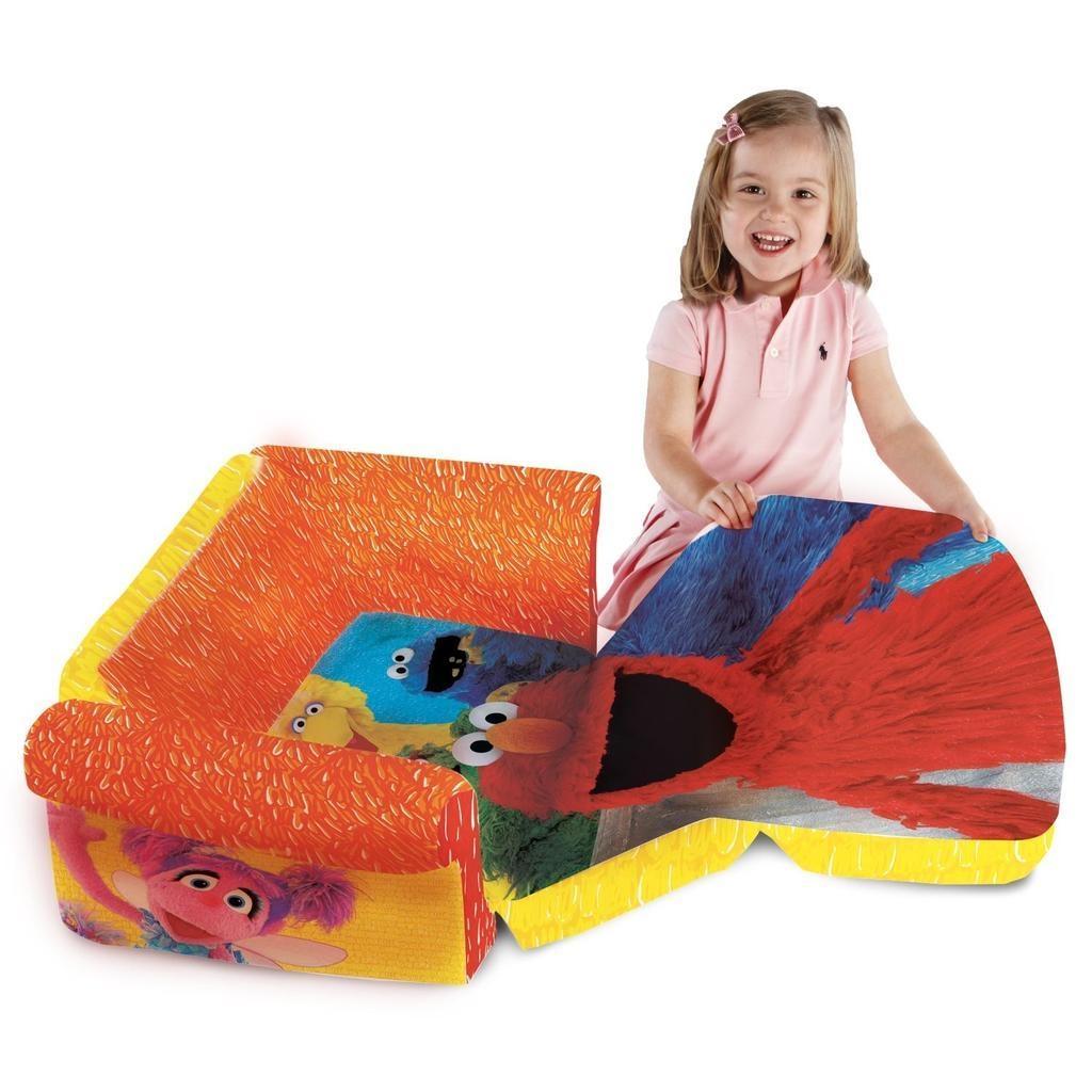 Spin Master – Marshmallow Furniture Flip Open Sofa Elmo/sesame Street Pertaining To Elmo Flip Open Sofas (Image 18 of 20)