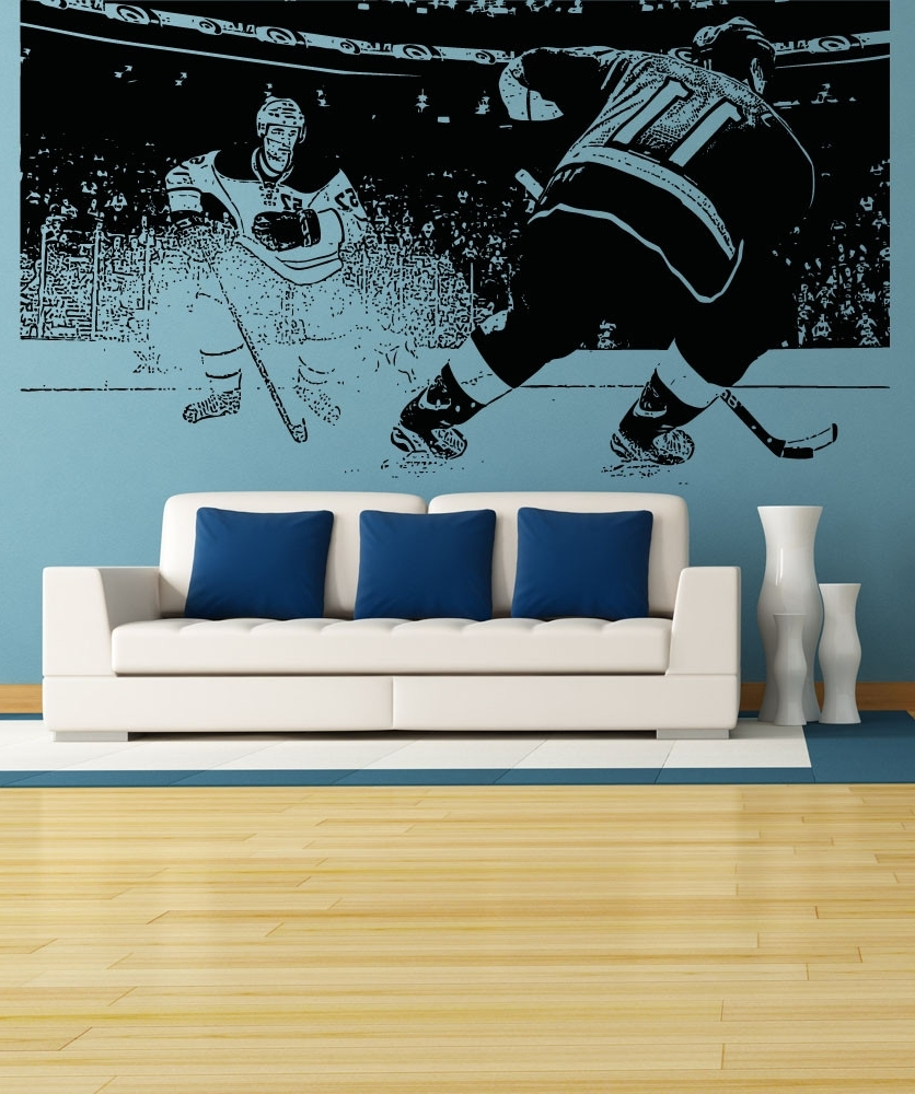 Sports Wall Stickers Sports Decals For Walls Stickerbrand, Hockey With Sports Wall Decals (Image 8 of 9)
