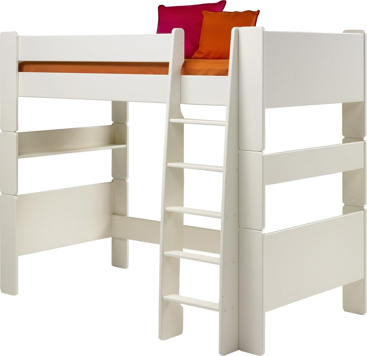 Steens For Kids Highsleeper Bed In Solid Plain White With Futon For High Sleeper Bed With Sofa (Image 11 of 20)