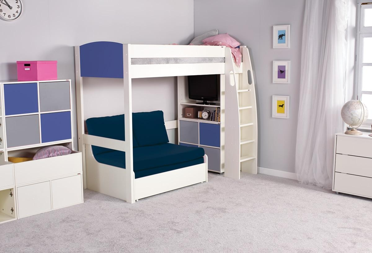 Stompa Uno S High Sleeper + Sofa Bed With High Sleeper Bed With Sofa (Image 14 of 20)