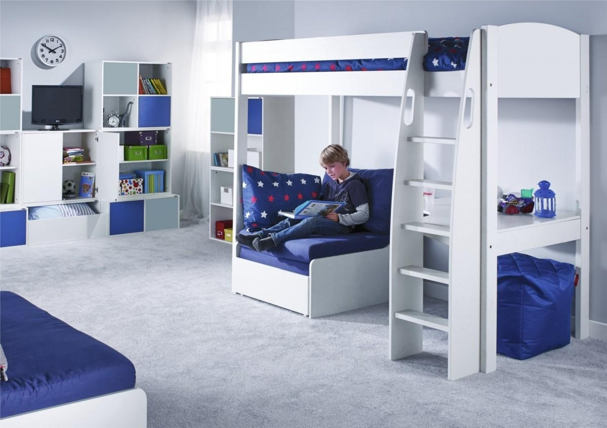 Stompa Unos High Sleeper Frame With Desk And Chair Bed Only Within High Sleeper With Sofa And Desk (Image 18 of 20)