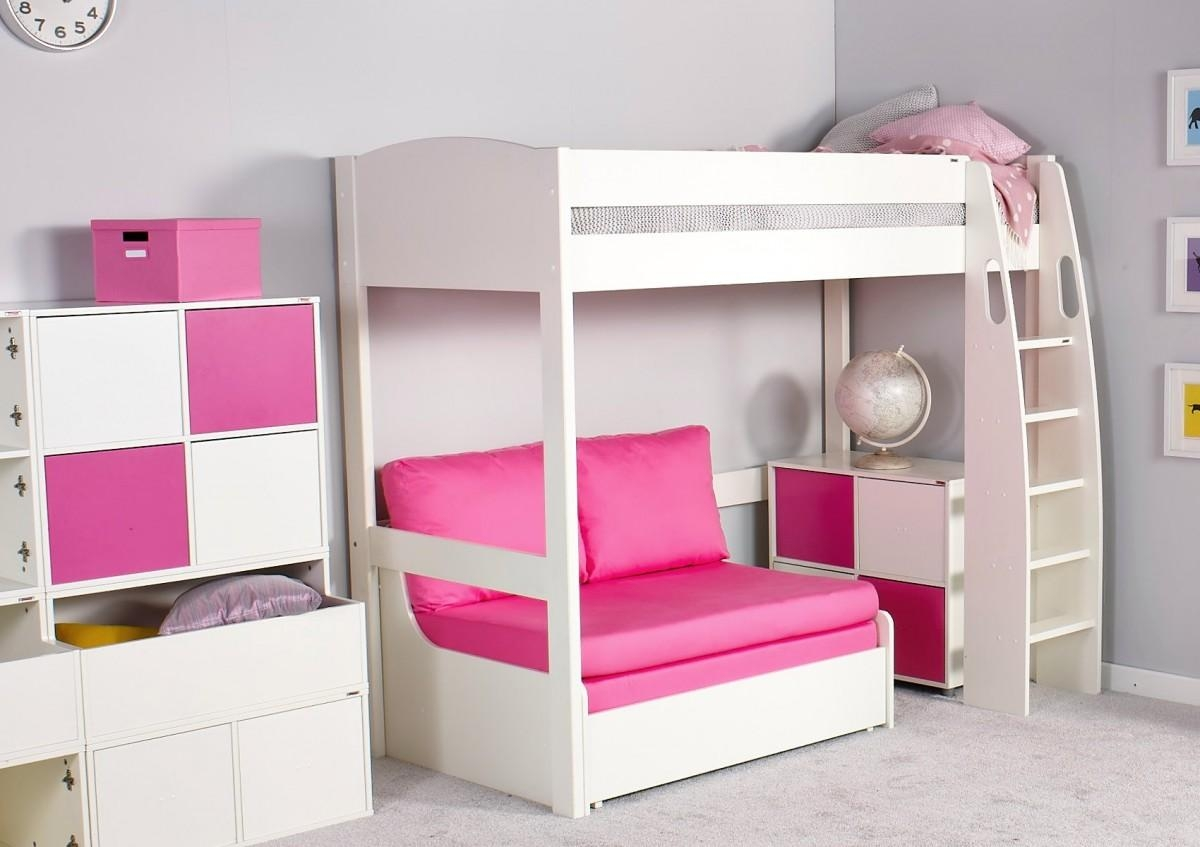 Stompa Unos High Sleeper Frame With Double Sofa Bed Only – Boys Within High Sleeper Bed With Sofa (Image 15 of 20)