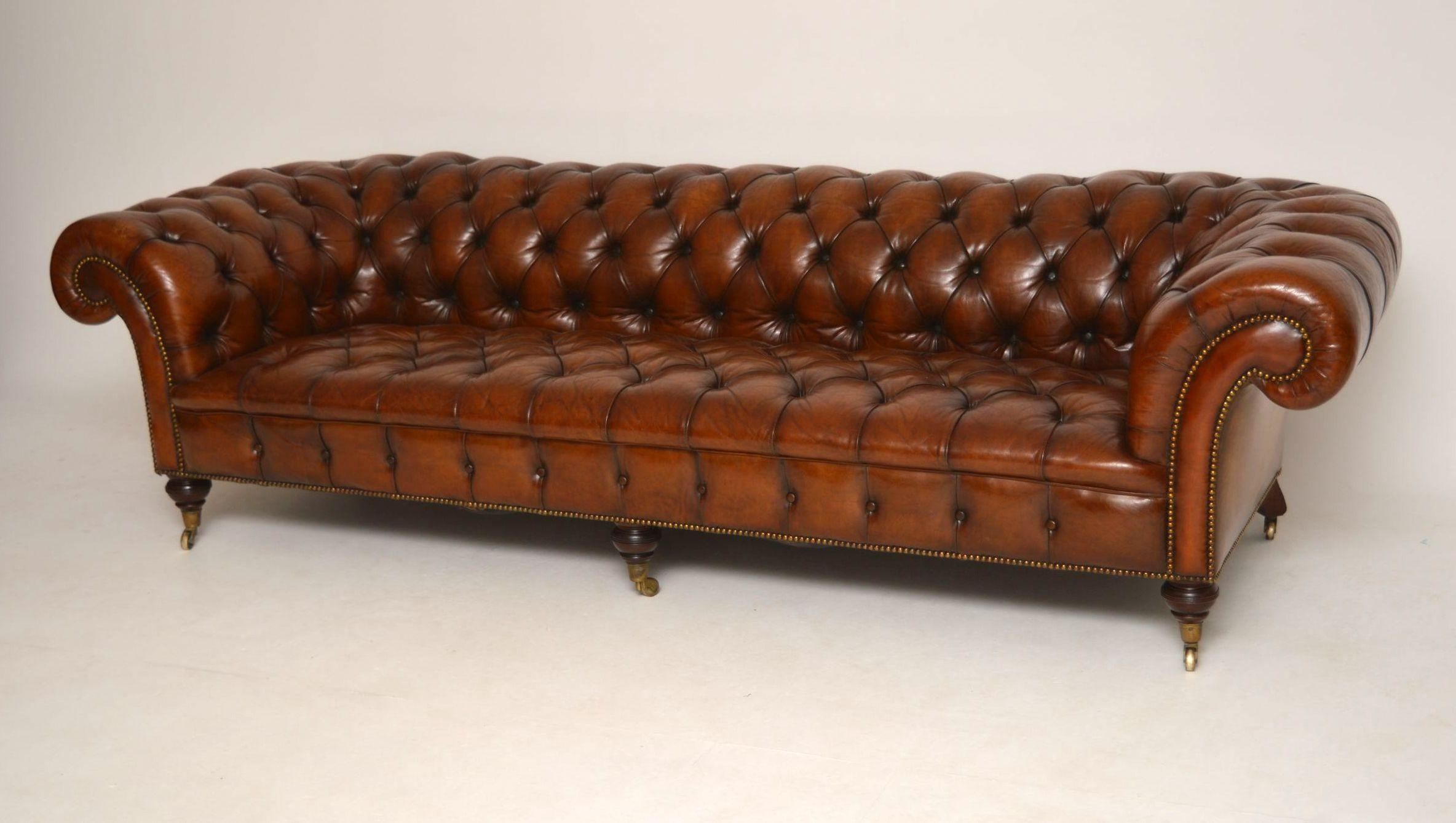 Storage Antique Chesterfield Sofas 24 With Antique Chesterfield Inside Victorian Leather Sofas (Image 14 of 20)