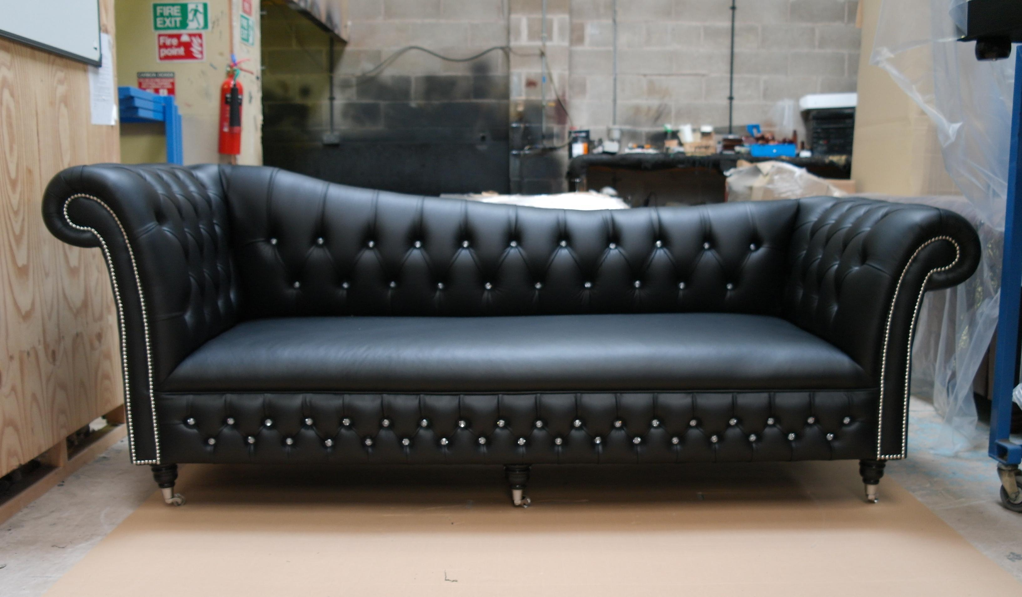 Storage Carnegie Leather Chesterfield Sofa Leather Small Intended For Small Chesterfield Sofas (View 10 of 20)