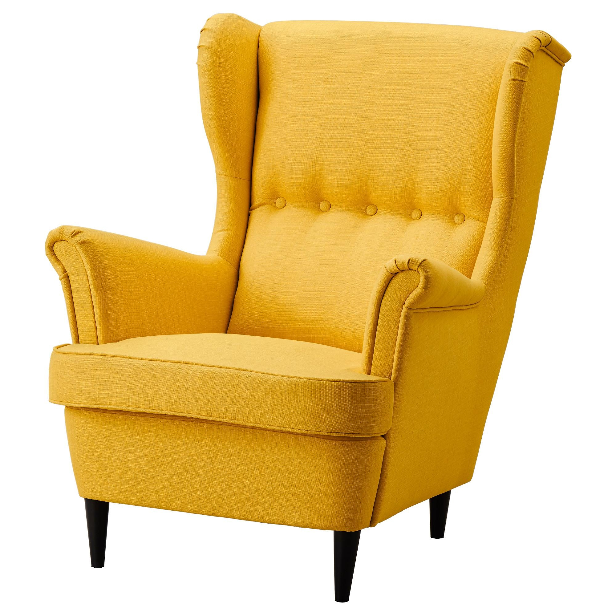 Strandmon Wing Chair Skiftebo Yellow – Ikea Pertaining To Sofa Chairs Ikea (Image 20 of 20)