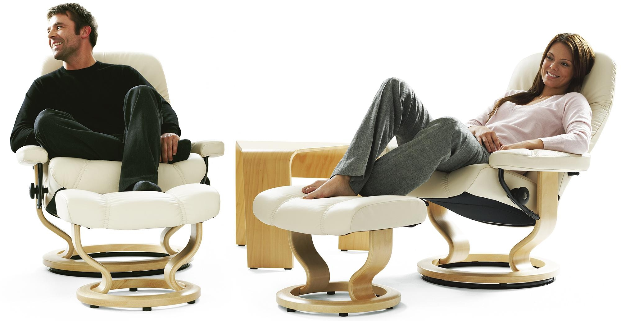 Stressless Diplomat Small Consul Recliner Chair Ergonomic Lounger Within Ergonomic Sofas And Chairs (View 15 of 20)