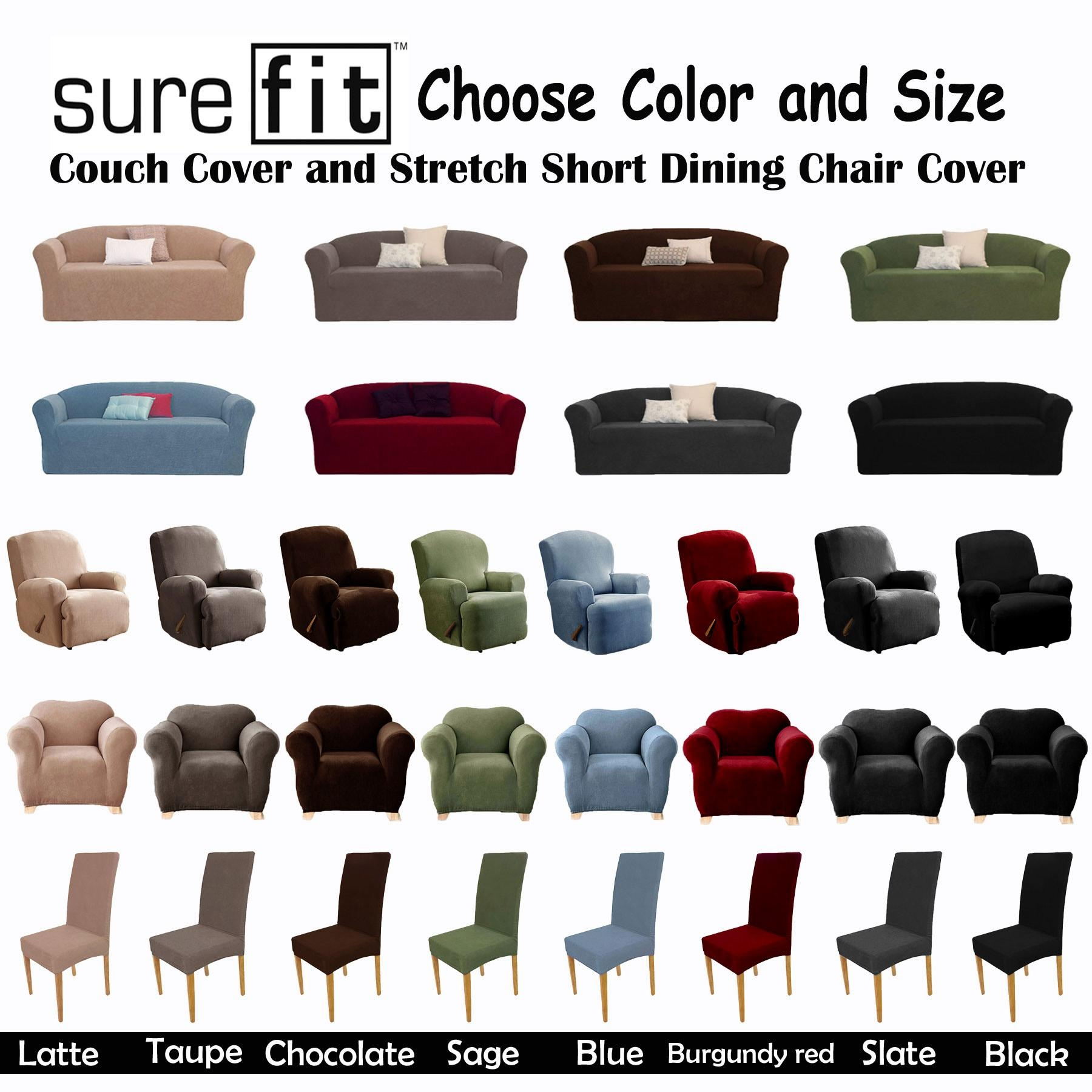 Stretch Surefit Couch Cover – 1 Seater, 1 Seater Recliner, 2 Regarding Stretch Covers For Recliners (Image 17 of 20)
