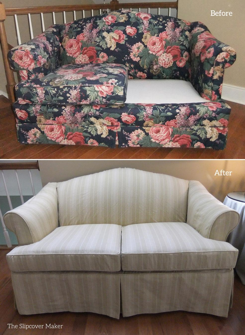 Striped Slipcovers | The Slipcover Maker Intended For Striped Sofa Slipcovers (Image 17 of 20)