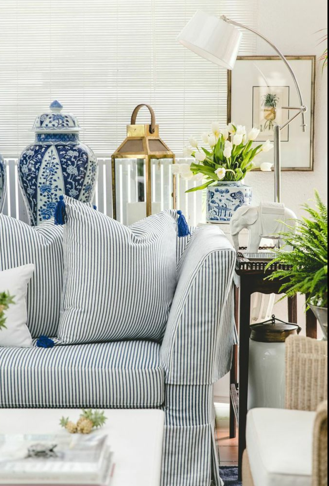 Striped Sofa Decorating Ideas | Tehranmix Decoration In Blue And White Striped Sofas (View 8 of 20)