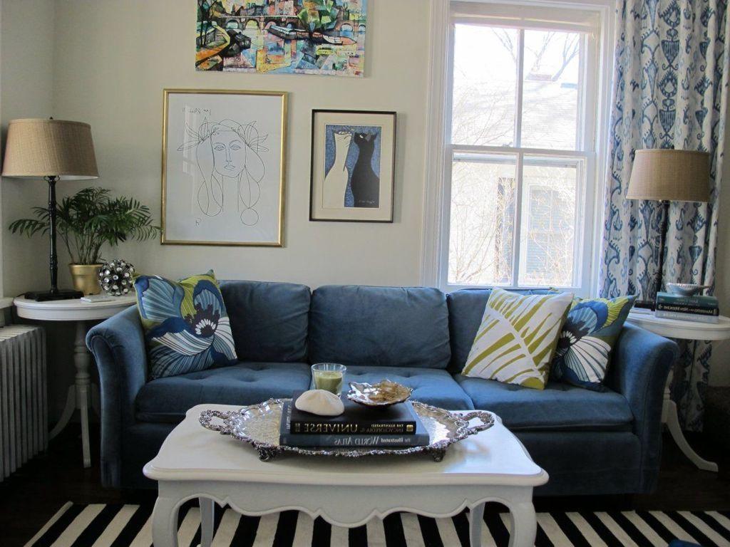 Striped Sofa Interior Design | Tehranmix Decoration Throughout Blue And White Striped Sofas (Image 19 of 20)