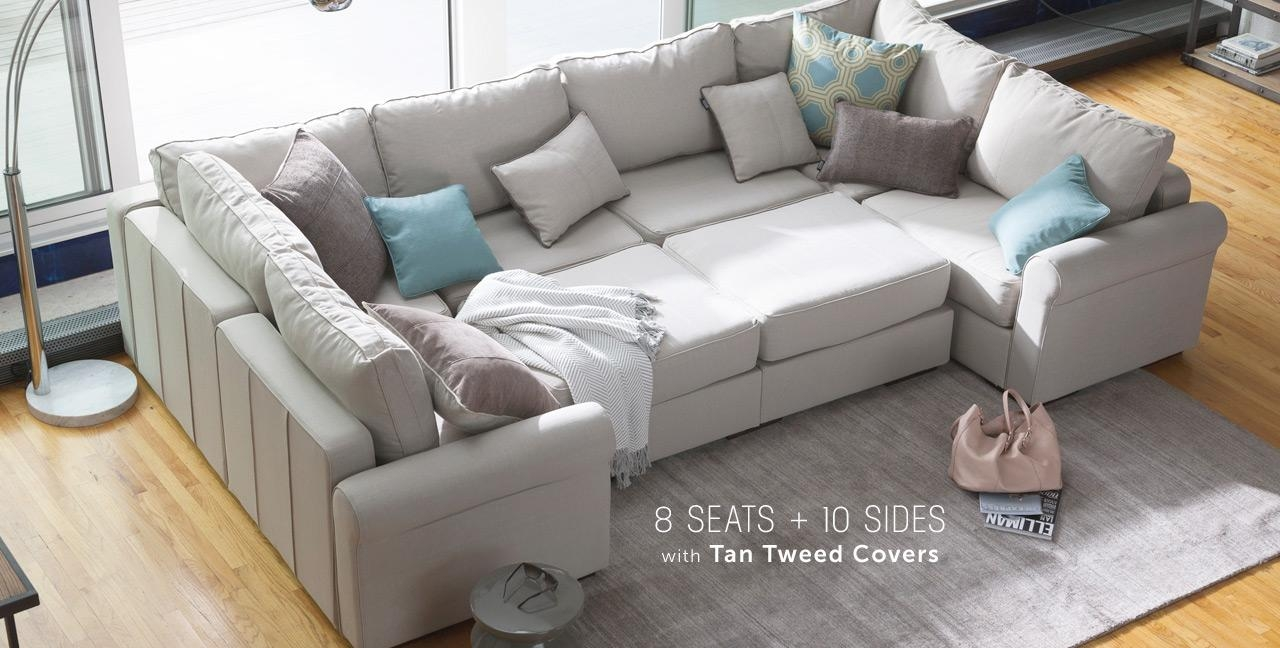 Stunning 10 Piece Sectional Sofa 24 About Remodel Big Sofas Inside Big Sofas Sectionals (View 15 of 15)