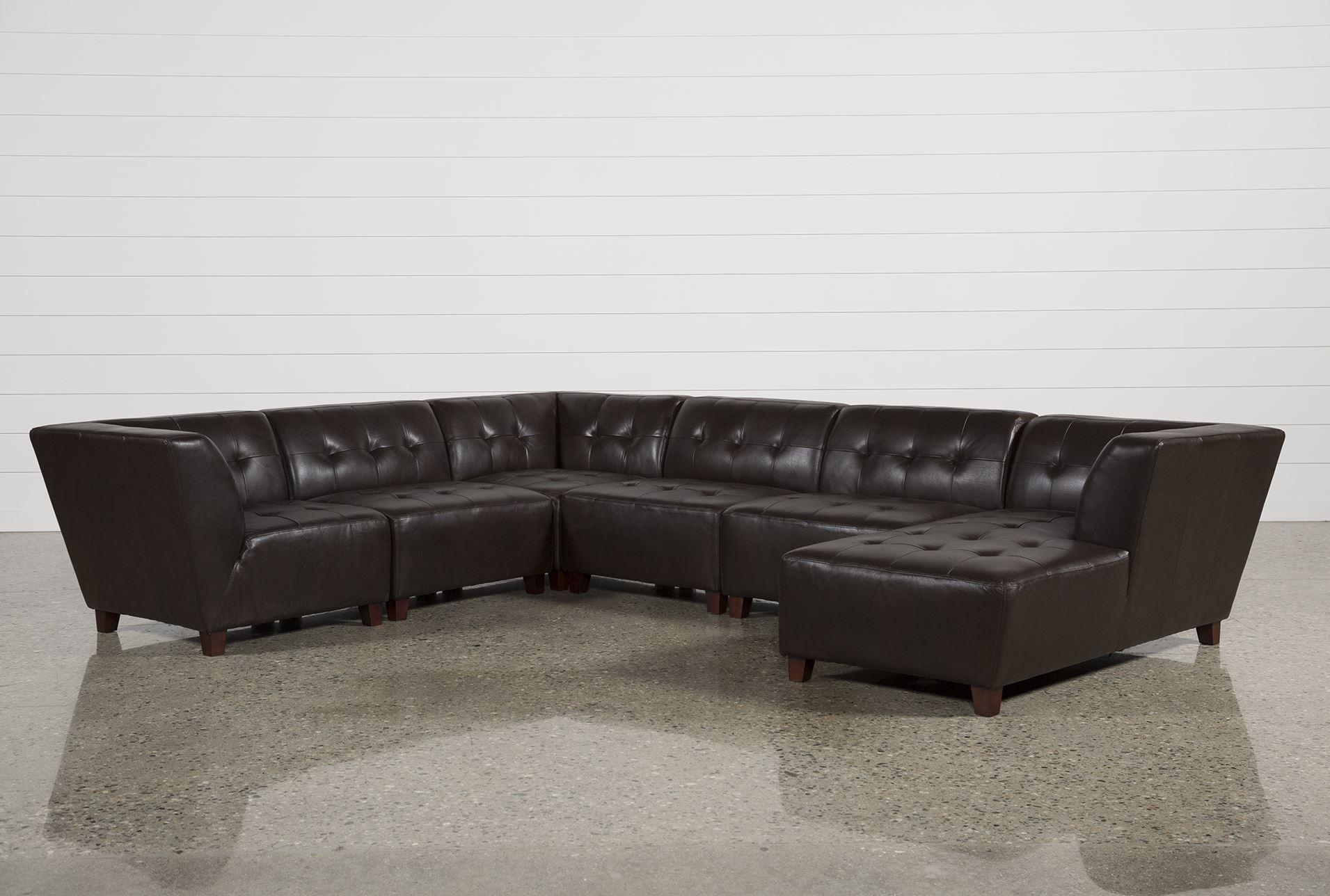 Stunning 6 Piece Leather Sectional Sofa 68 For Your Sectional In Leather Sectional Sofas Toronto (View 9 of 20)