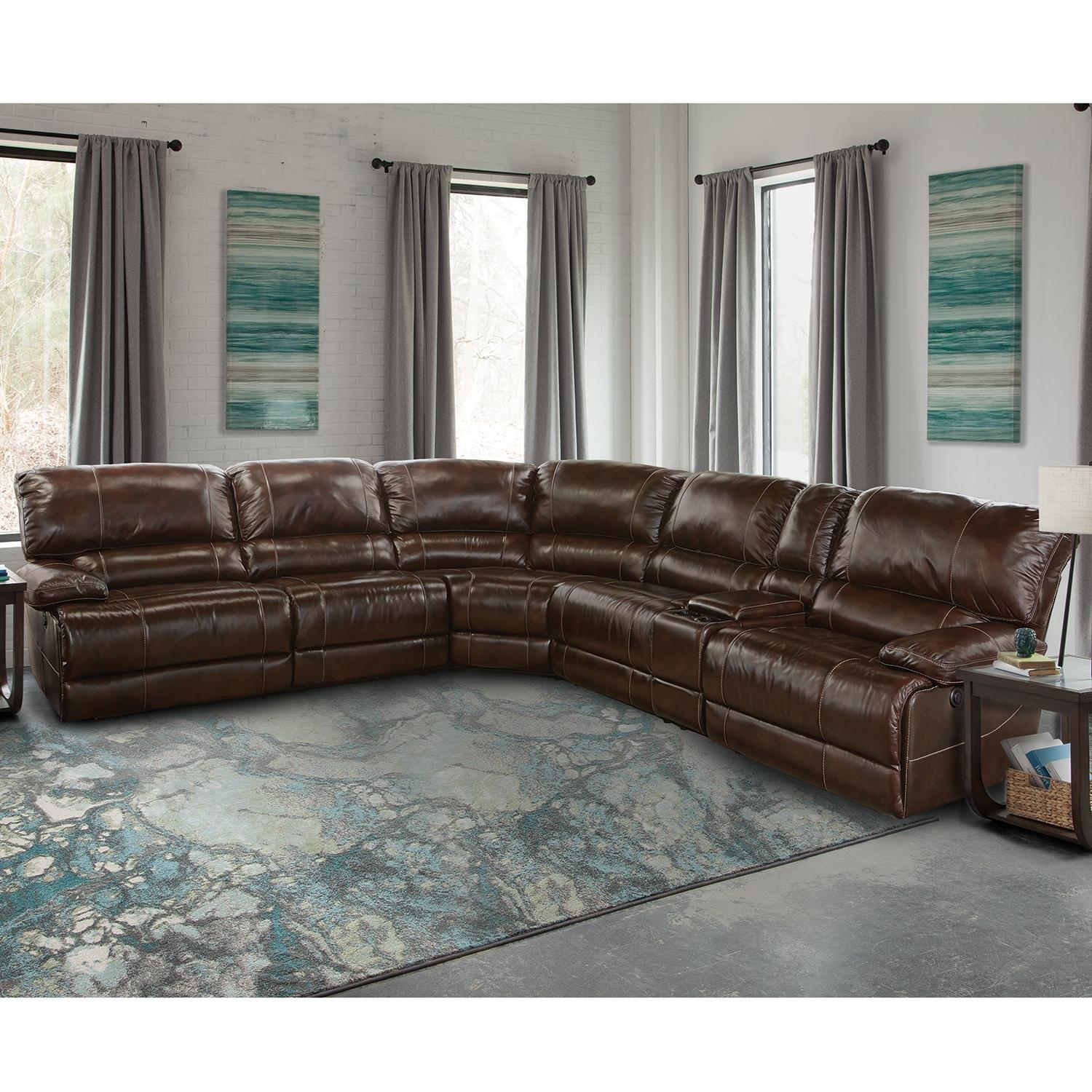 Stunning 6 Piece Leather Sectional Sofa 68 For Your Sectional Pertaining To Leather Sectional Sofas Toronto (Photo 10 of 20)