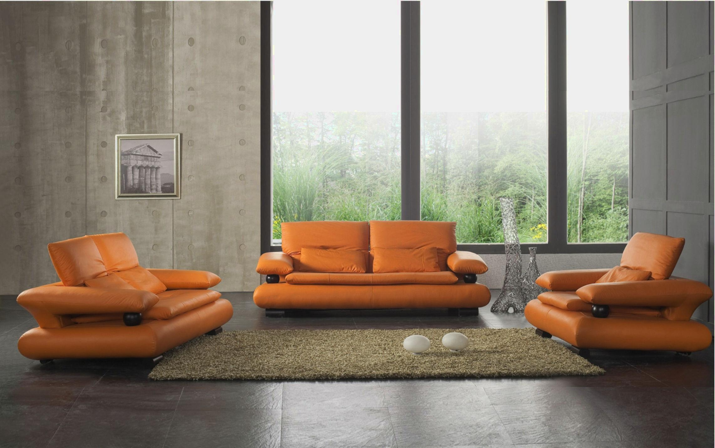 Stunning Orange Living Room Furniture Ideas – Home Design Ideas With Regard To Orange Modern Sofas (Photo 9 of 20)