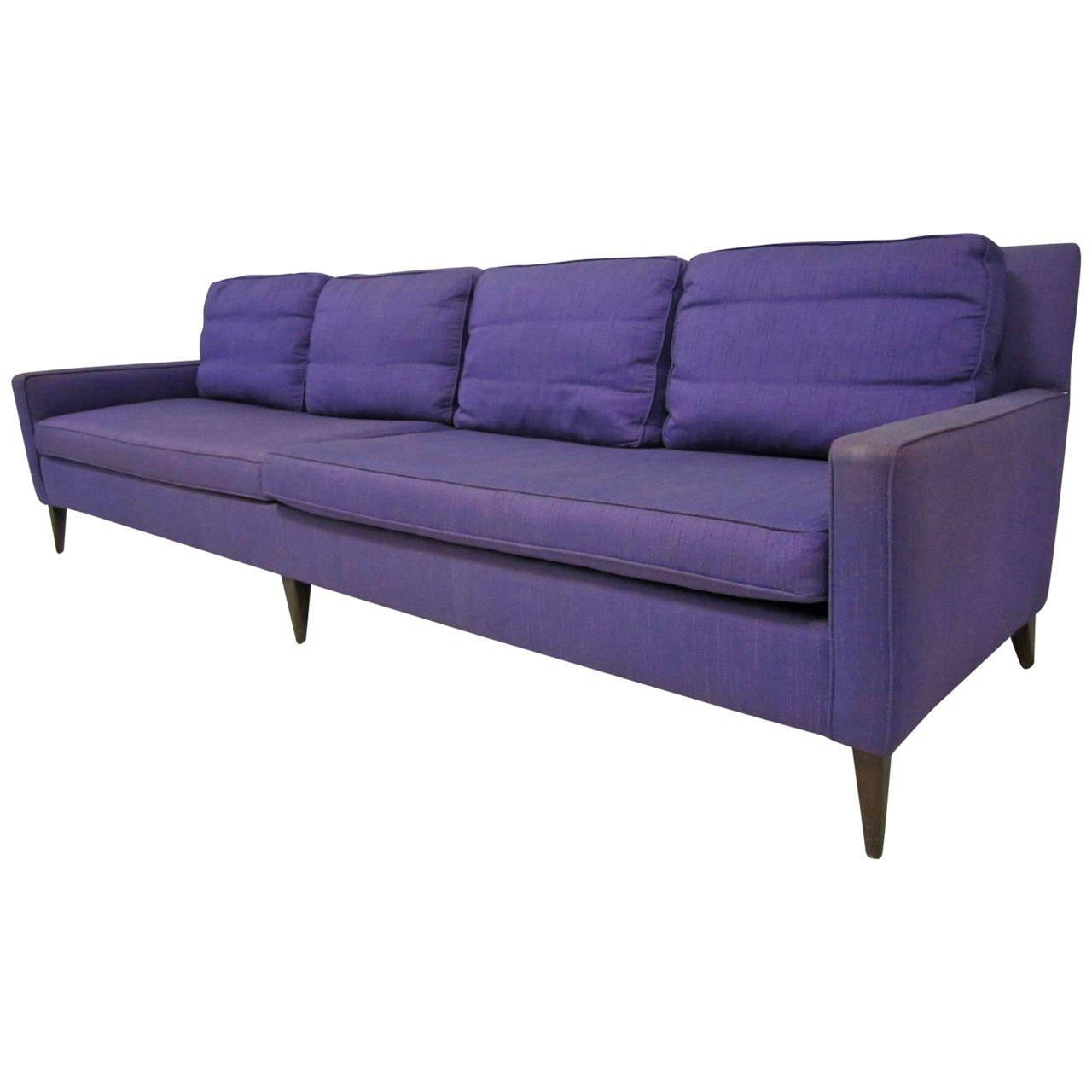 Stunning Signed Paul Mccobb Long Sofa, Mid Century Modern For Sale Inside Florence Knoll Wood Legs Sofas (View 14 of 20)