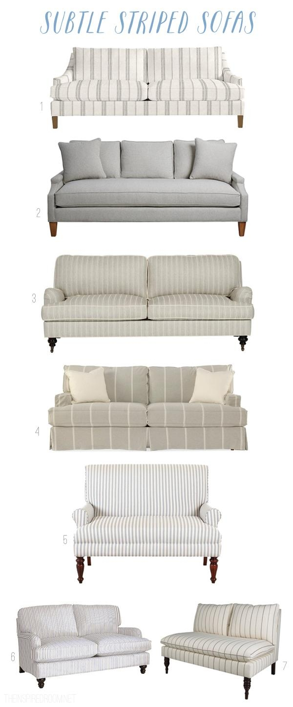 Subtle Striped Sofas – The Inspired Room For Striped Sofas And Chairs (View 19 of 20)