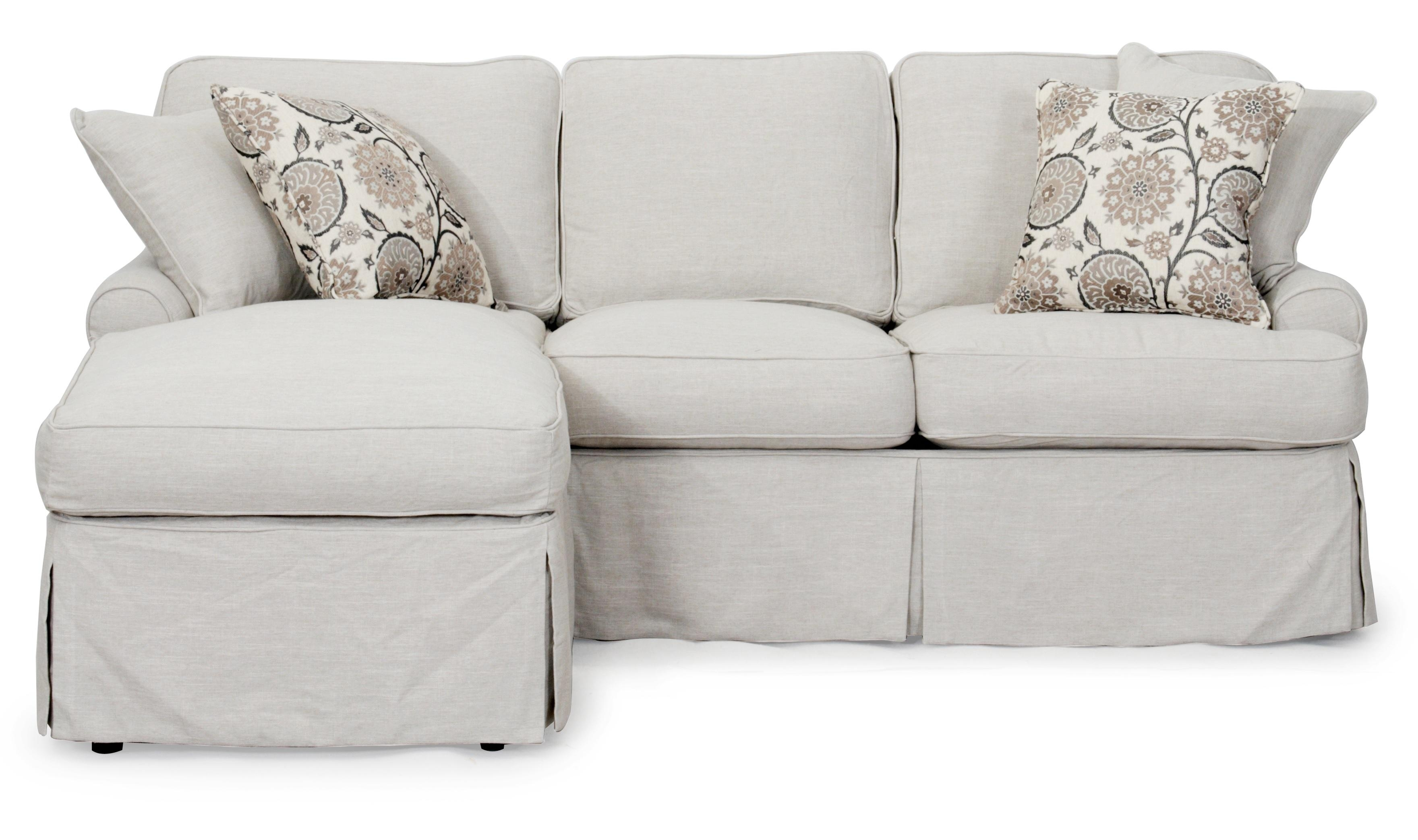 Sunset Trading Horizon Slipcovered Sleeper Sofa And Chaise In Intended For Slipcovers For Sleeper Sofas (View 12 of 20)