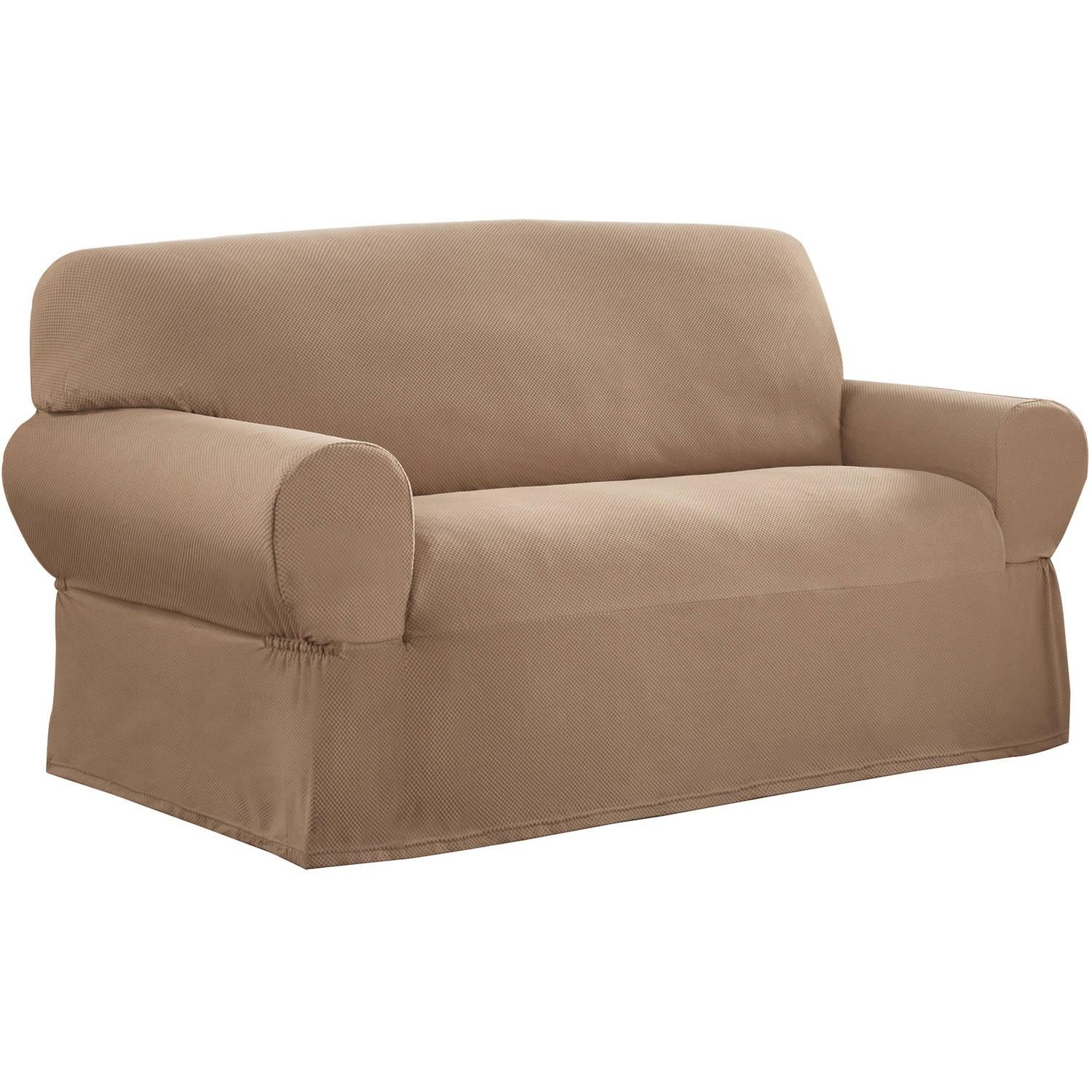 Sure Fit Lexington T Cushion Loveseat Slipcover – Walmart Pertaining To Loveseat Slipcovers T Cushion (View 6 of 20)