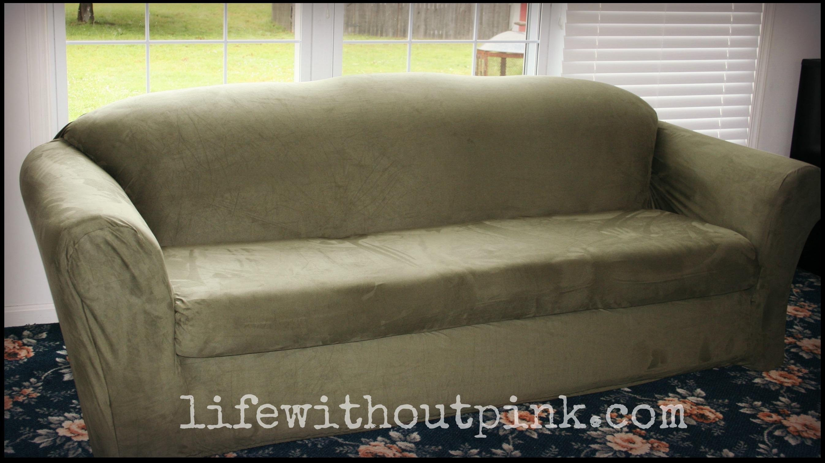 Sure Fit Slipcover Review {Video} | Life Without Pink Intended For Stretch Slipcover Sofas (Image 18 of 20)
