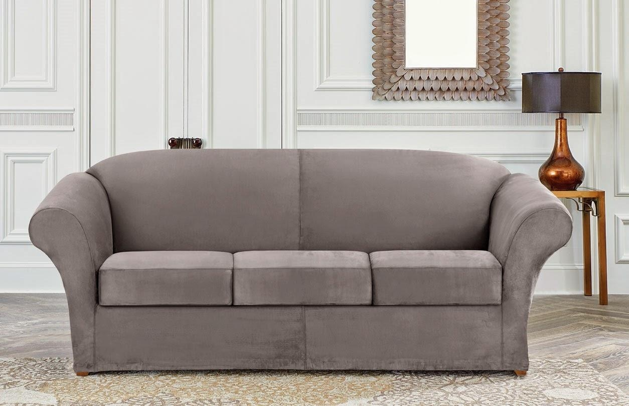Sure Fit Slipcovers: April 2014 For Suede Slipcovers For Sofas (View 17 of 20)