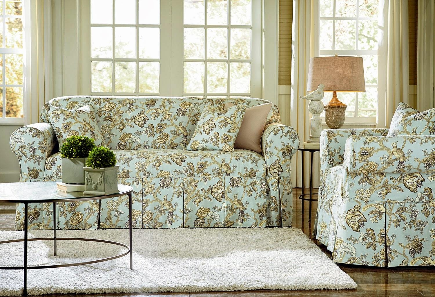 Sure Fit Slipcovers Blog Intended For Floral Sofas And Chairs (Photo 3 of 20)