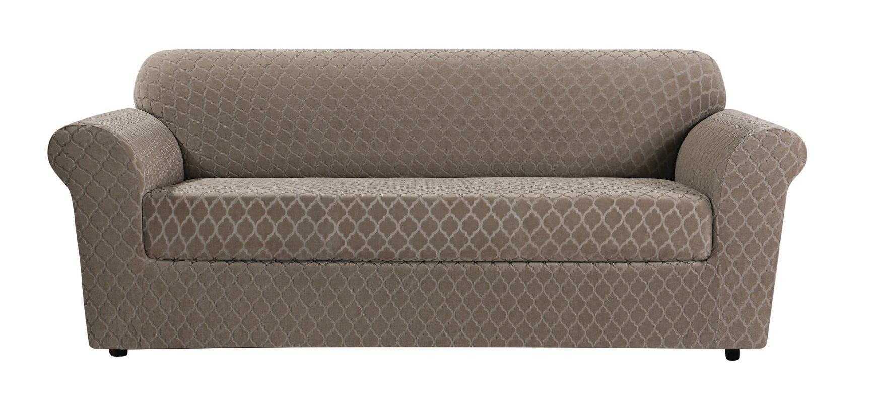 Sure Fit Stretch Grand Marrakesh 2 Piece Slipcover & Reviews | Wayfair Throughout Loveseat Slipcovers 3 Pieces (View 15 of 20)